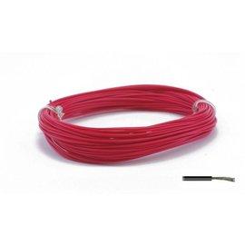 Ohmeron Soepele montagedraad 0,2mm² 10m rood