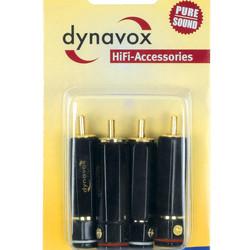 Audio Dynavox Dynavox High-End cinch stekkerset 2 x rood, 2 x wit