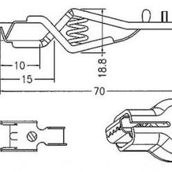 Batterijklem 30A - zwart - 70mm - Geïsoleerd
