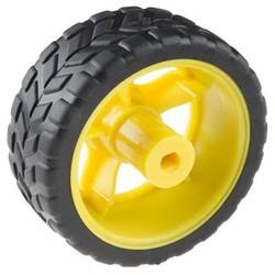 DC Gearbox wiel 65mm voor DCGEAR - zwart/geel