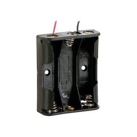 Batterijhouder voor 3 x AA