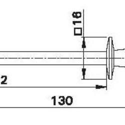 Scherpe meetpunt met socket voor 4mm banaanstekker - zwart - HCK
