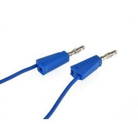 Ohmeron Siliconen meetsnoer 1m blauw