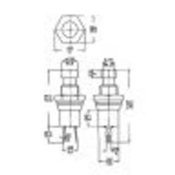Drukknop (ON)-OFF Geel 0,5A - 30VDC