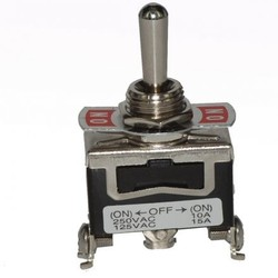 Toggle Switch Enkelpolig (ON)-OFF-(ON) 10A - 250V