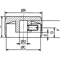 Draaiknop - 20 x 14mm - Aluminium
