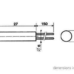 Ronde 7mm signaallamp 24V - Rood