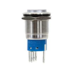 Sintron Connect RVS drukknop 19mm met aan/uit symbool en verlichting 12V