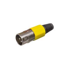 XLR connector male geel