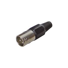 XLR connector male zwart
