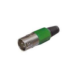 XLR connector male groen
