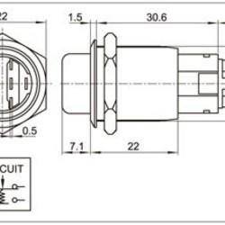 Sintron Connect 2 polige draaischakelaar 19mm