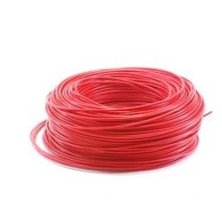 Ohmeron Soepel Montagedraad 0.75mm² - 100 meter rood