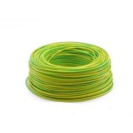 Ohmeron Soepele Montagedraad 0.75² 100m geel/groen