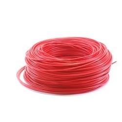 Ohmeron Soepele Montagedraad 0.5mm² - 100 meter rood