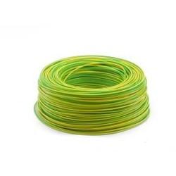 Ohmeron Soepele Montagedraad 0.5mm² - 100 meter geel/groen