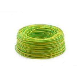 Ohmeron Soepel Montagedraad 1.5mm² 100m geel/groen