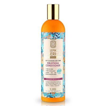 Natura Siberica Oblepikha Conditioner Deep Cleansing and Care ( Normal - Oily Hair ) 400 ml