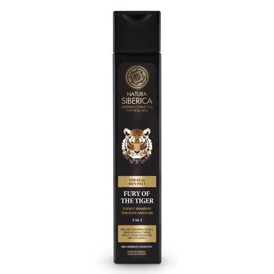 Natura Siberica Fury of the Tiger 2 -in-1 Energy Shampoo for Body & Hair 250 ml
