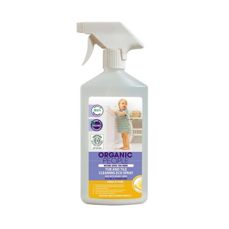 Organic People Tub And Tile Cleaning Eco Spray With Organic Lemon, 500 ml