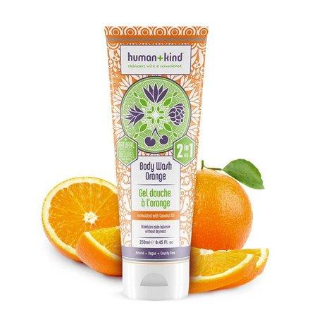 Human + Kind  Shampoo Body Wash Orange Vegan All-in-one