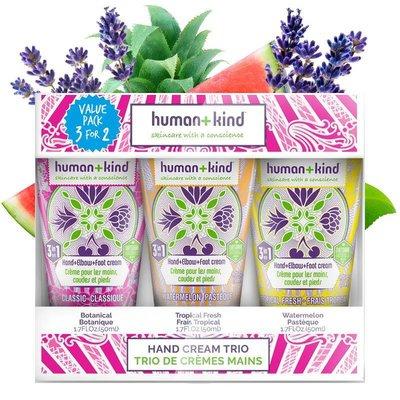 Human + Kind  Hand Creme Trio Vegan
