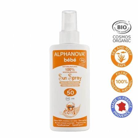 Alphanova Sun ALPHANOVA SUN BIO SPF 50 Bebe Hypo allergeen Spray 125g