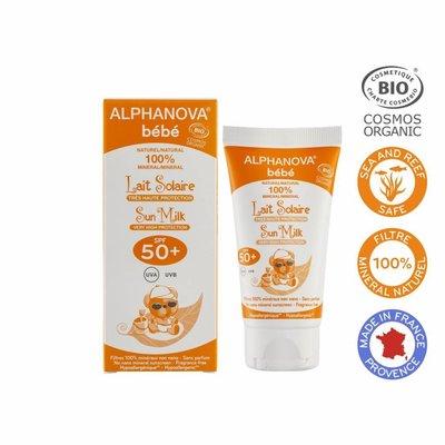 Alphanova Sun ALPHANOVA SUN BIO SPF 50+ Bebe Hypo allergeen Sun Milk 50g