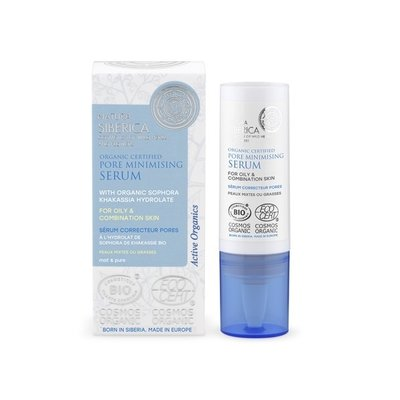 Natura Siberica Organic Certified Pore Minimising Serum For Oily & Combination Skin 15ml