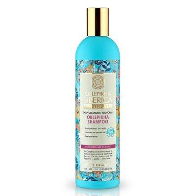 Natura Siberica Oblepikha Shampoo Dieptereiniging en verzorging  ( Normaal - Vet Haar ) 400 ml