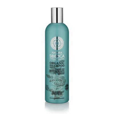 Natura Siberica Gecertificeerde Organische Shampoo voeding en hydratatie voor droog haar 400ml.