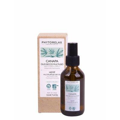 Phytorelax Feuchtigkeitsspendendes Mehrzweck-Trockenöl Gesicht-Körper-Haar mit Hanf, 100ml