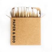 PAPER & BOO Wattestäbchen aus Bambus (100 Stück)