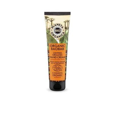 Planeta Organica Gecertificeerde biologische handcrème van baobab, voor een zachte en jonger uitziende huid, 75 ml