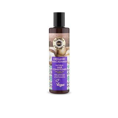 Planeta Organica Naturhaarspülung Macadamia , für Glanz und Ausstrahlung, 280 ml
