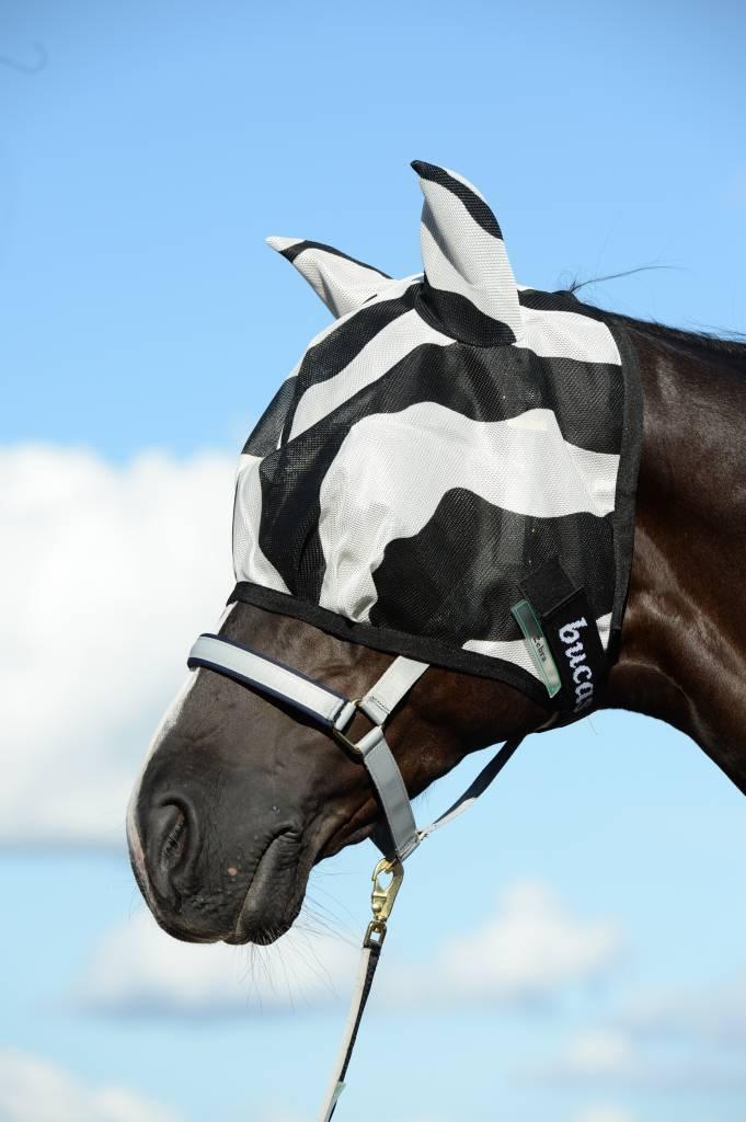 Bucas Buzz Off Fly mask Zebra