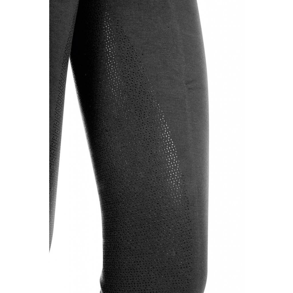 HKM Rijbroek silicoon zitvlak  zwart