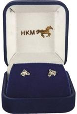HKM oorknopjes - paardenhoofd-