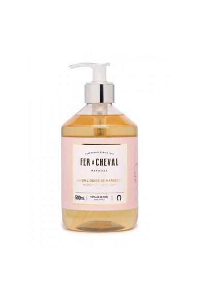 Vloeibare geparfumeerde marseille zeep Rozen 500ml