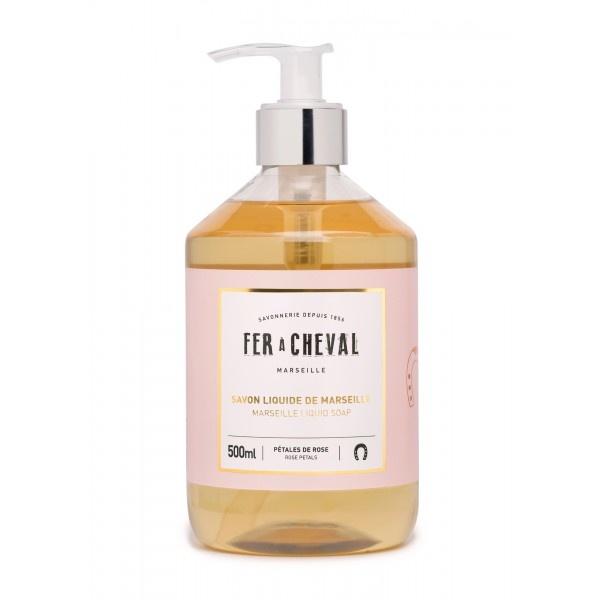 Vloeibare geparfumeerde marseille zeep Rozen 500ml-1
