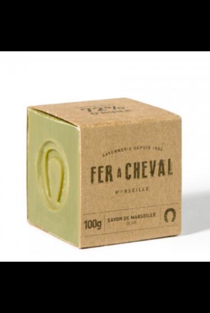 Groene Marseille zeep cube olive 100g