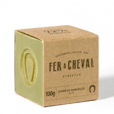 Groene Marseille zeep cube olive 100g-1