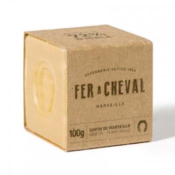 Witte Marseille zeep cube vegetal 100g-1