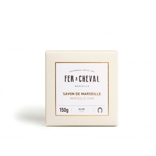 Groene Marseille zeep Premium Cube 150g-1
