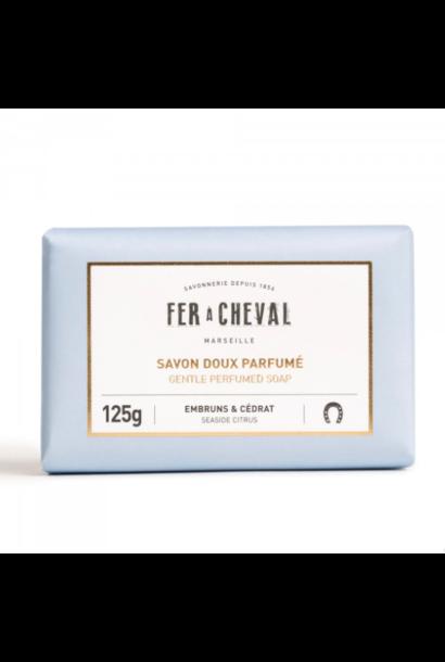 Geparfumeerde Marseille zeep met Ceder citrus 125g