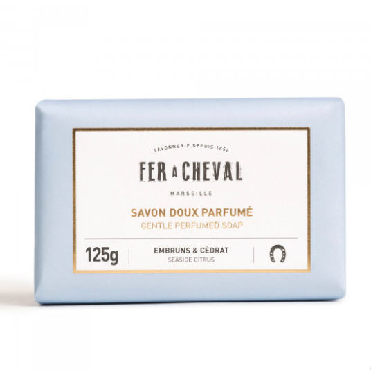 Geparfumeerde Marseille zeep met Ceder citrus 125g-1