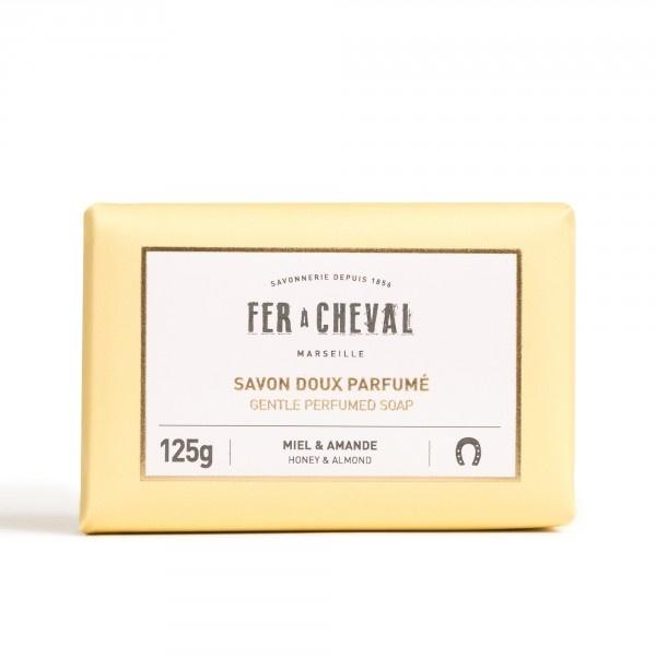 Geparfumeerde Marseille zeep honing-amandel 125g-1