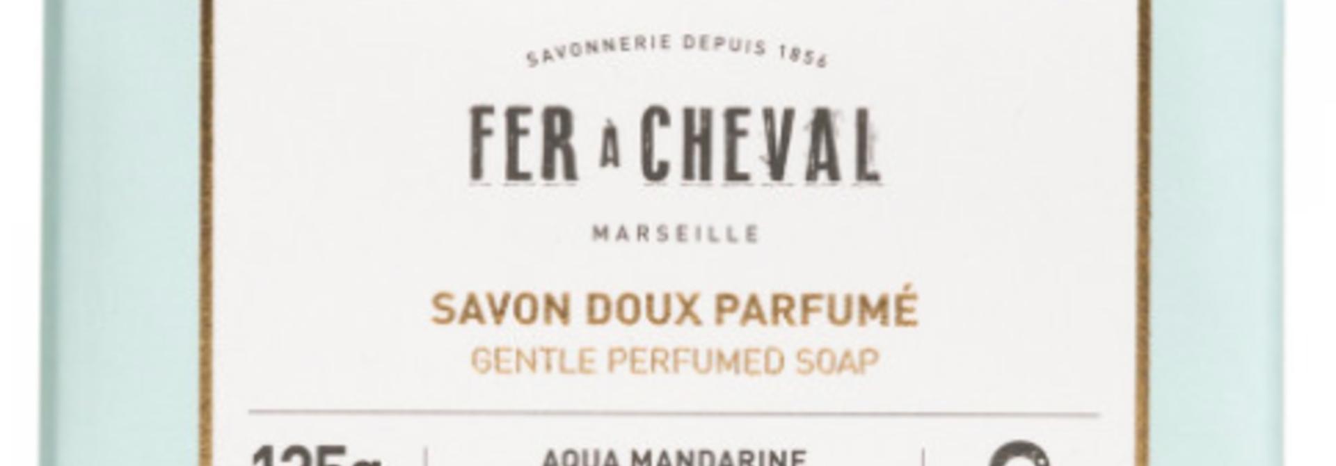 Geparfurmeerde Marseille zeep met mandarijn 125g