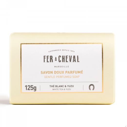 Geparfumeerde Mareille zeep met witte thee & Yuzu 125g-1