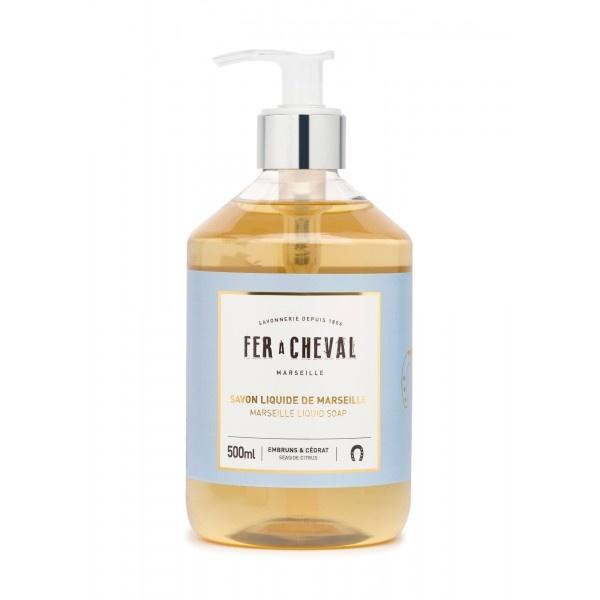 Vloeibare geparfumeerde marseille zeep met Citrus & ceder 500ml-1